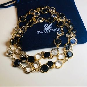 **Swarovski Black and White Bezel necklace